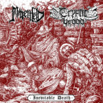 MINENFELD / CRYPTIC BROOD - Inevitable Death Split 7 cover