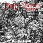 MINENFELD / CRYPTIC BROOD - Inevitable Death Split 7 cover